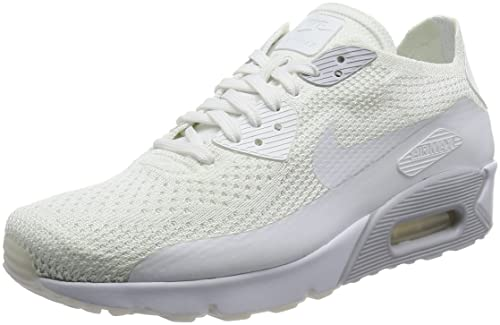 on sale b8384 28eda Nike AIR MAX 90 ULTRA 2.0 FLYKNIT, Men s Low-Top Sneakers, White (