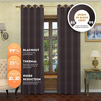 Amazon.com: Nicole - Solid Thermal Insulated Curtains | Premium ...
