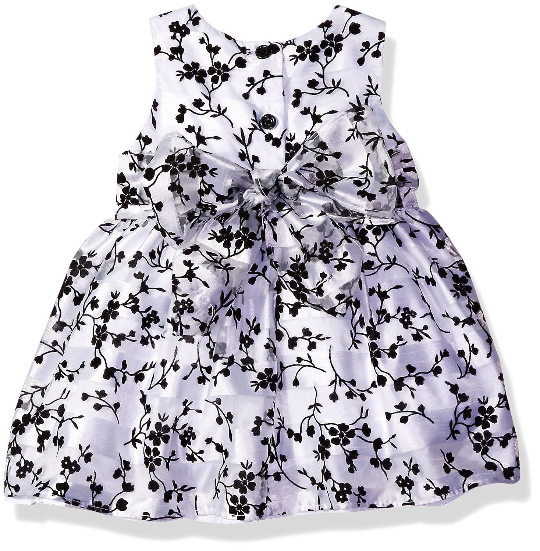 Marmellata Baby Girls Velvet Jacket Floral Print Party Dress