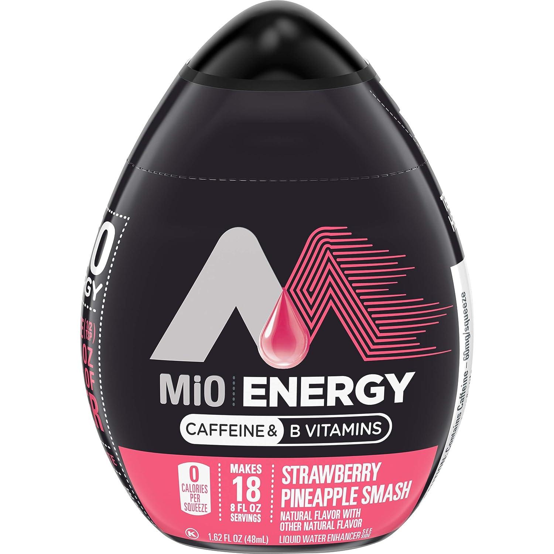 MiO Energy Strawberry Pineapple Smash Liquid Water Enhancer, Caffeinated, 1.62 fl oz Bottle - 2 pack