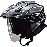 リード工業(LEAD) バイク用ジェットヘルメット AIACE (アイアス) ブラック Lサイズ (59-60cm未満) -