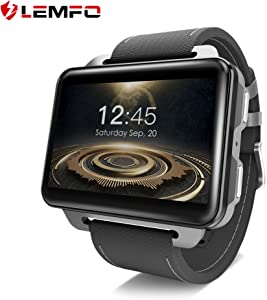 LEMFO LEM4 PRO Smart Watch Phone, 2.2 Inch Big Screen GPS/Heart Rate Sport Tracker Monitor/Pedometer for Android iOS with SIM Card Slot - Black