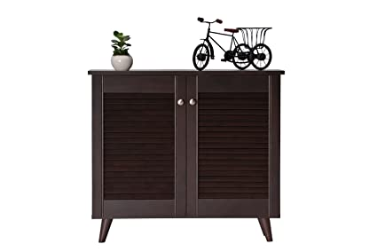 0e6dc227521 DeckUp Noordin 2-Door Shoe Rack/Cabinet (Dark Wenge, Matte Finish)