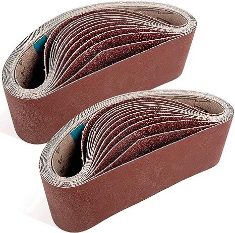 3 x 21 inch 5 Each of 40 80 120 240 Grit Aluminum Oxide Sanding Belts For Belt sander Sackorange 20 PCS 3 inch x 21 inch Abrasive Sanding Belts