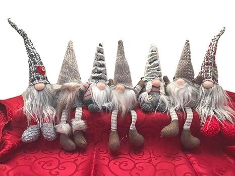 Folletti Di Natale Set Di 7 Nani Natalizi Altezza 20 Cm Idea