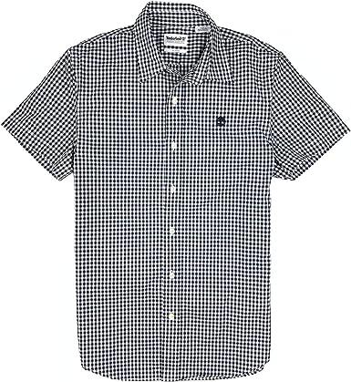 Timberland - Camisa de cuadros de manga corta para hombre, color azul marino - Azul - Medium: Amazon.es: Ropa y accesorios