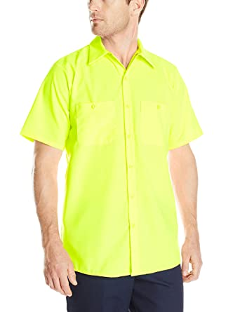 2a76dde5 Amazon.com: Red Kap Men's Enhanced Visibility Work Shirt ...