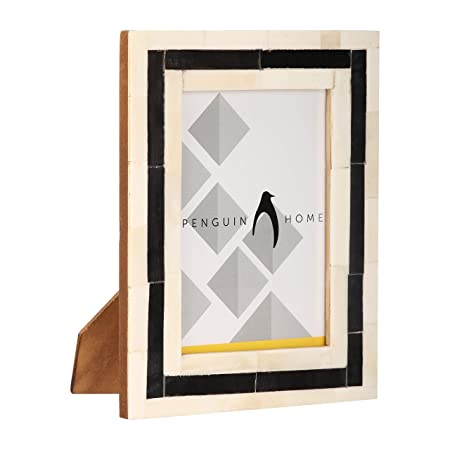 Penguin Home 17 X 12 Cm Handcrafted Bone Mosaic Picture Frame