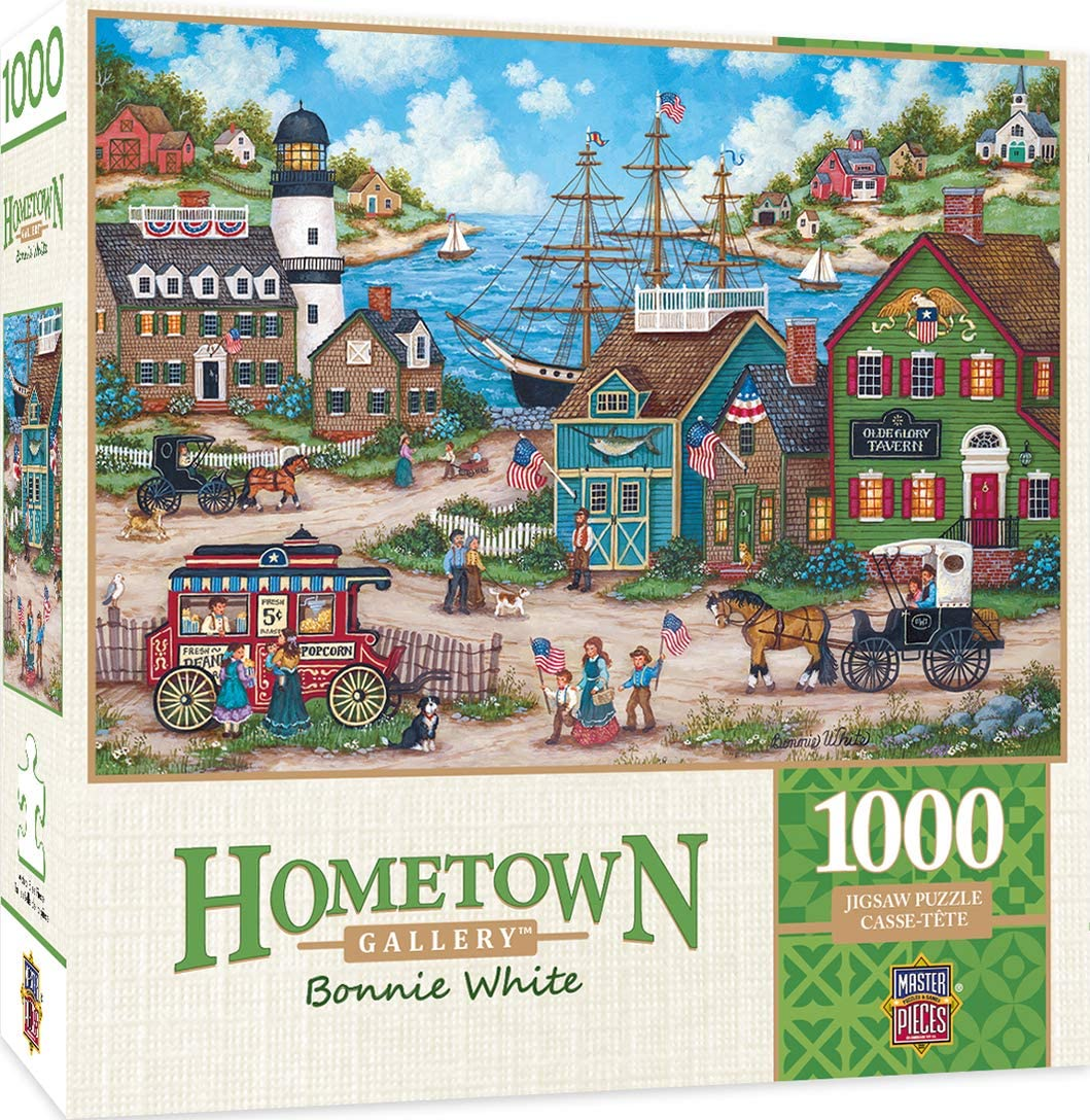 Masterpieces Hometown Gallery Jigsaw Puzzle, The Young Patriots, Featuring Art by Bonnie White, 1000Piece