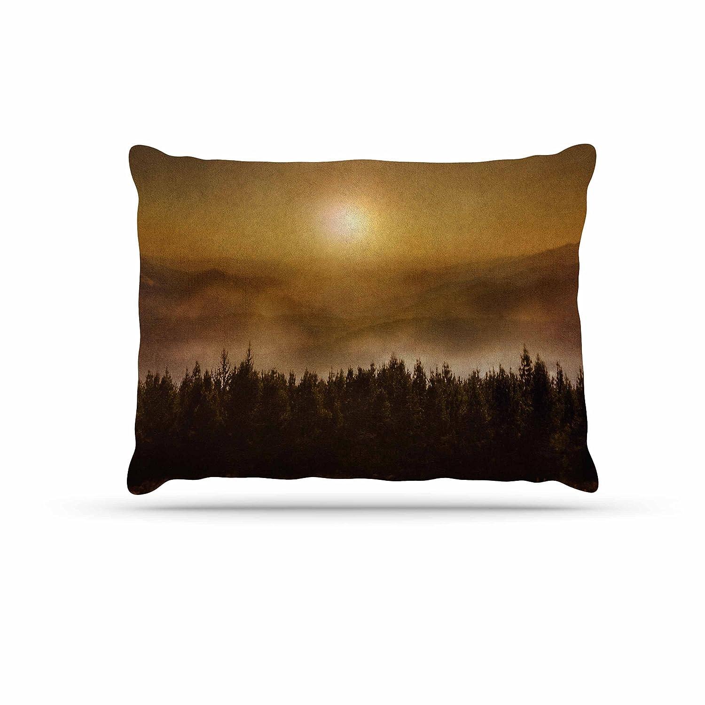 KESS InHouse Viviana Gonzalez The Awakening orange Brown Dog Bed, 50  x 40