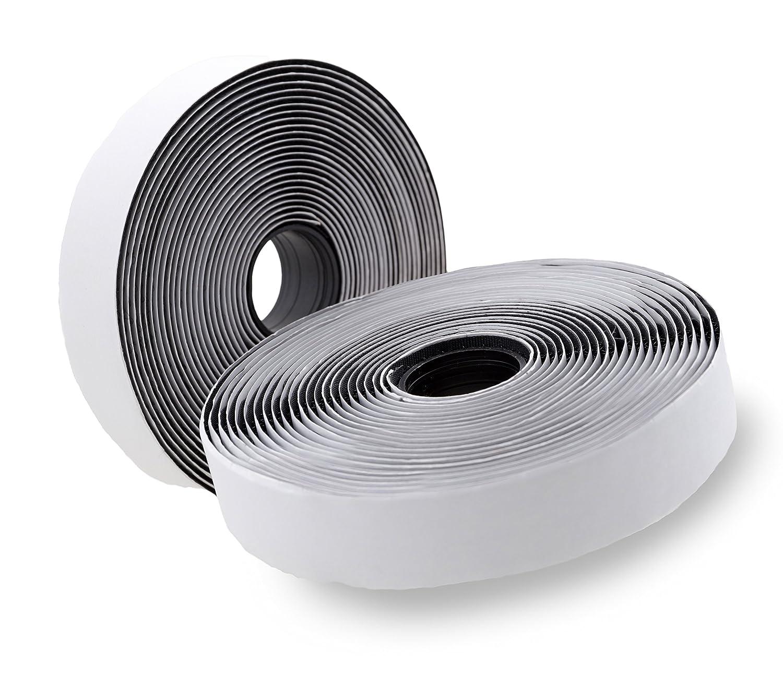 Toolable - Nastro di velcro autoadesivo, extra forte (5m di lunghezza, 2cm di larghezza), nero Klettband selbstklebend