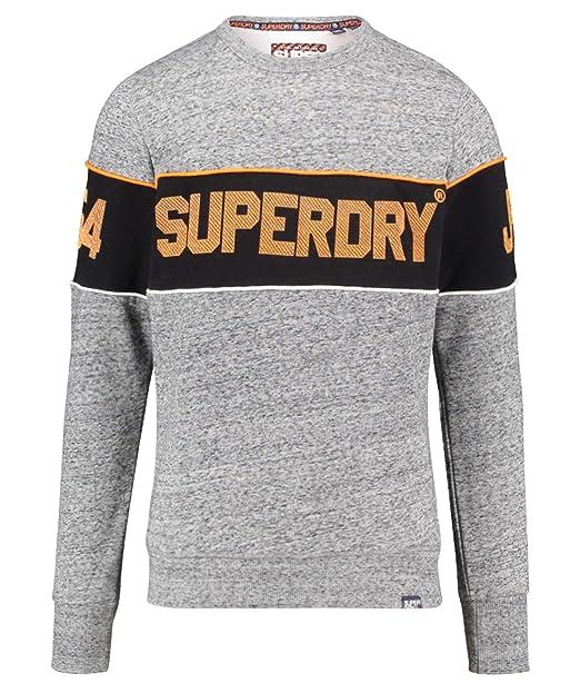 Superdry Retro Stripe Crew Sudadera para Hombre: Amazon.es: Ropa y accesorios