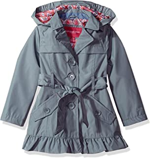 bccf997d79de Amazon.com  London Fog Girls  Double Breasted Belted Trench Coat ...