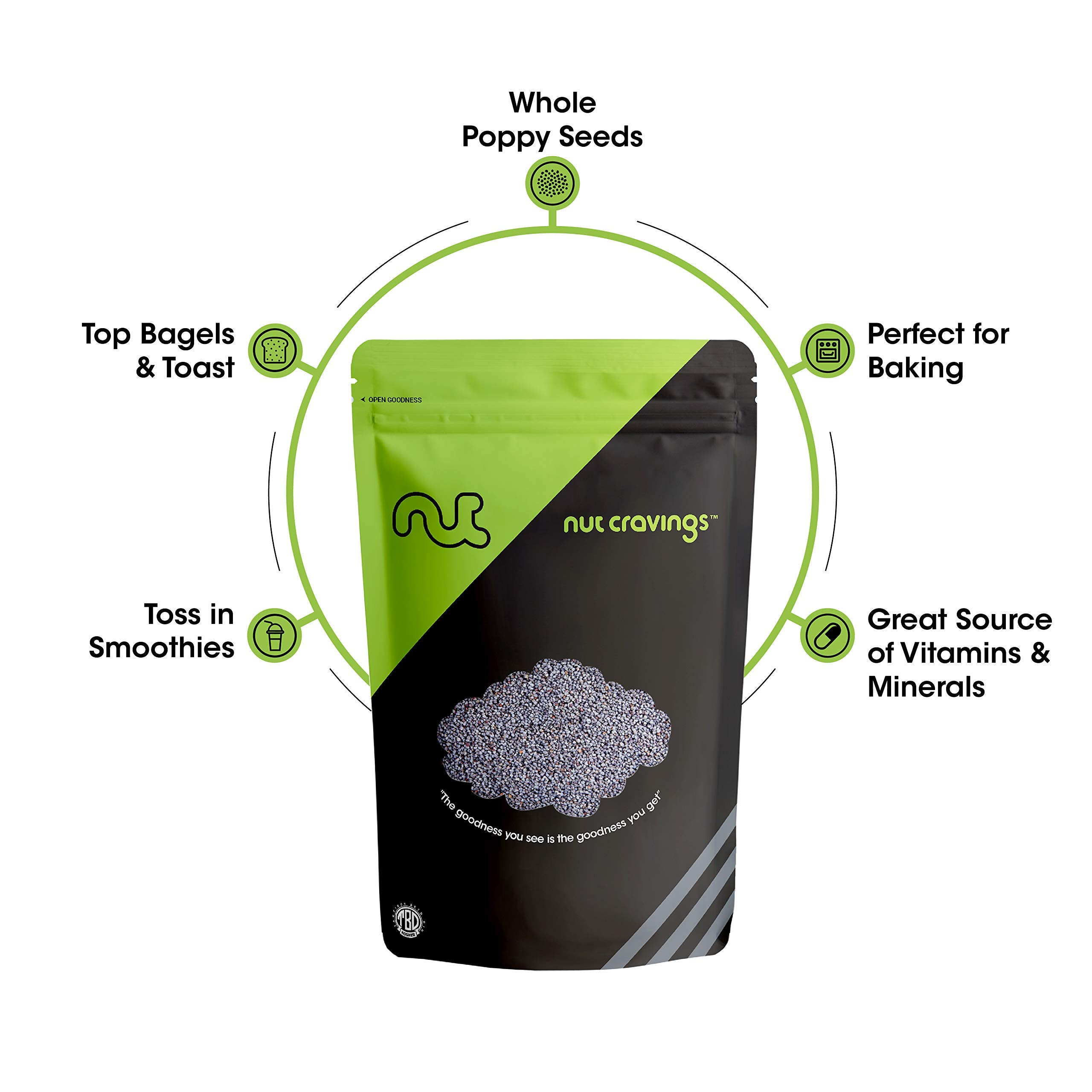 Nut Cravings - Whole Blue England Poppy Seeds (1 Pound) - Country of Origin United Kingdom - 16 Ounce by Nut Cravings (Image #4)