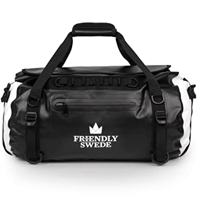 5156dee6c1 Amazon.com  The Friendly Swede Waterproof Duffel Bag Backpack