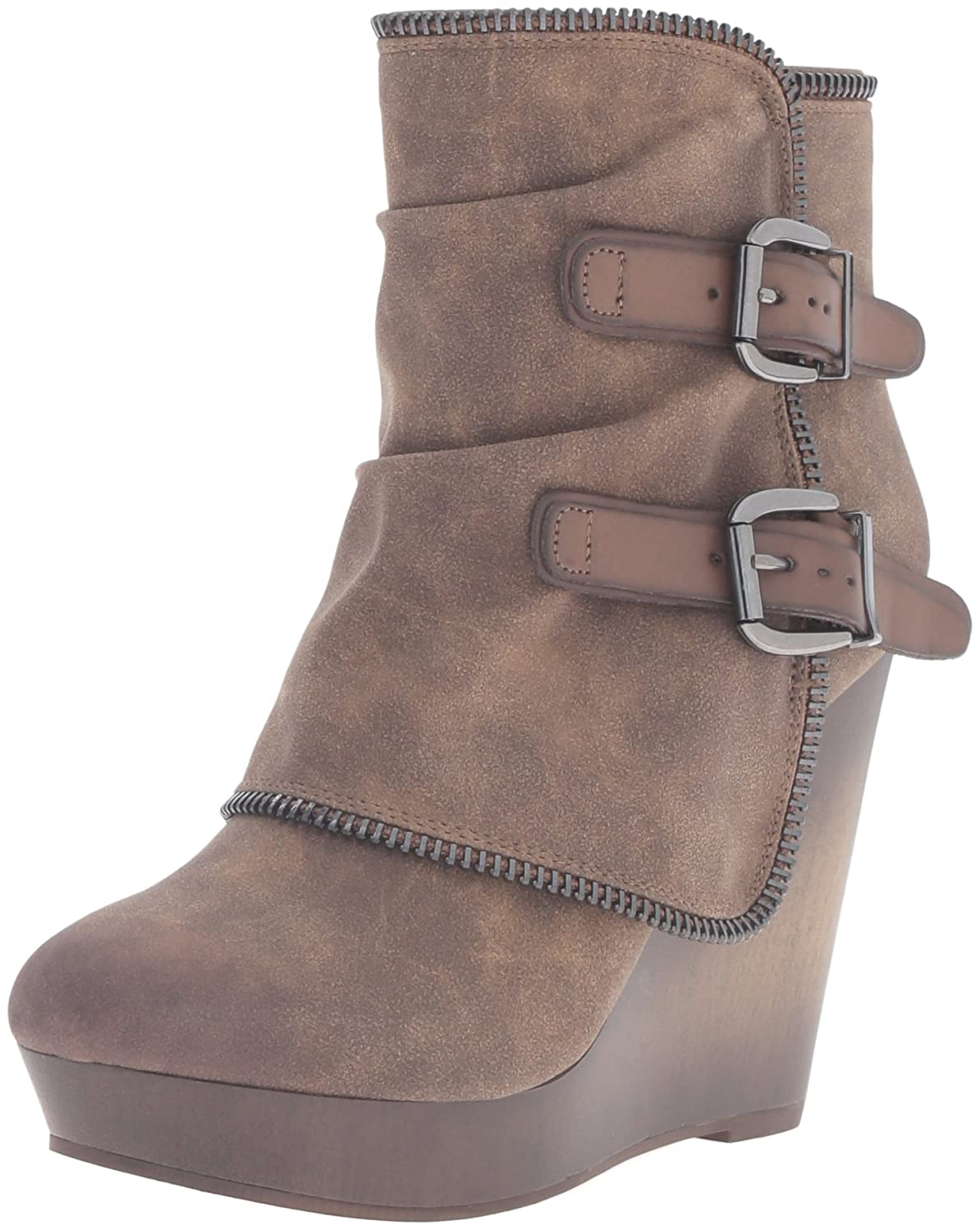 Not Rated Women's Gemini Ankle Bootie B01COPZ2DI 7.5 B(M) US|Taupe