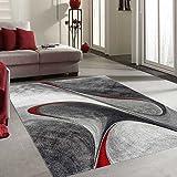 Unamourdetapis Tapis MADILA Tapis de Salon Moderne Design Rouge 120 x 170 cm