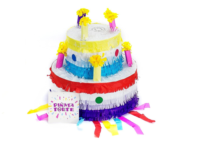 Trendario Pinata Geburtstagstorte, Pinjatta Kuchen ideal zum Befüllen mit  Süßigkeiten und Geschenken - Piñata Torte für Kindergeburtstag Spiel,  Geschenkidee ...