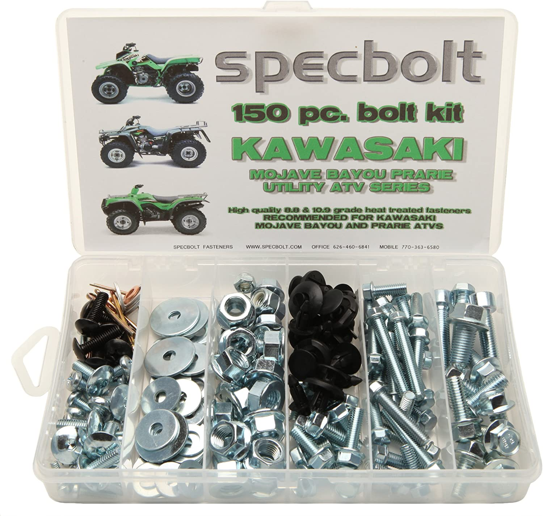 120pc Specbolt Kawasaki KX Two Stroke Bolt Kit for Maintenance /& Restoration of MX Dirtbike OEM Spec Fastener KX60 KX65 KX80 KX85 KX100 KX125 KX250 KX500 60 65 80 85 100 125 250 500
