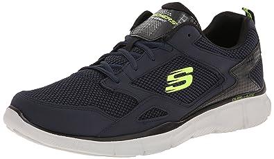 Skechers Flex AdvantageFirst Team, Sneakers Basses Homme, Bleu - Bleu Marine, 44