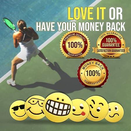 Prettyia 2Pcs Silicone Tennis Racquet Shock Absorber Vibration Dampeners Kit
