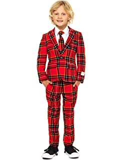 a6d8b1a1627 OppoSuits Christmas Suits for Boys in Different Prints – Ugly Xmas Sweater  Costumes Include Jacket Pants