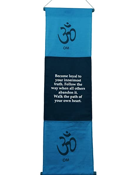 amazon com large cotton om inspirational yoga banner scroll style