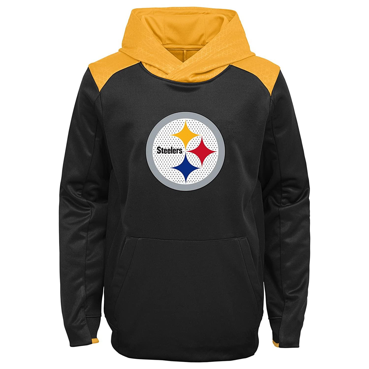 Kids Small 4-6 Team Color NFL Pittsburgh Steelers 4-7 Outerstuff Off The Grid Performance Pullover Hoodie