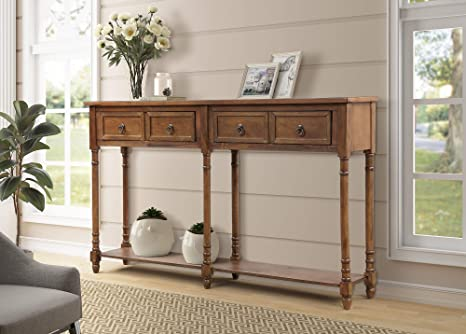 Surprising 58 Inch Long Storage Console Table Julyfox Mid Century Slim Hallway Sofa Table With 2 Large Storage Drawers Shelf Rustic And Victorian Style Entryway Creativecarmelina Interior Chair Design Creativecarmelinacom
