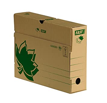 Fast - Caja Archivo Definitivo Eco Lomo Pequeño Caja 10 Cajas: Amazon.es: Oficina y papelería