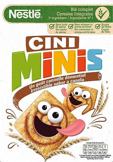 NESTLE cereales infantiles cini minis con sabor a canela caja 375 gr: Amazon.es: Alimentación y bebidas