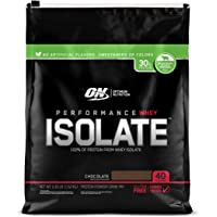 Optimum Nutrition Performance Whey Isolate Protein Powder, Naturally Flavored Chocolate, 40 Servings
