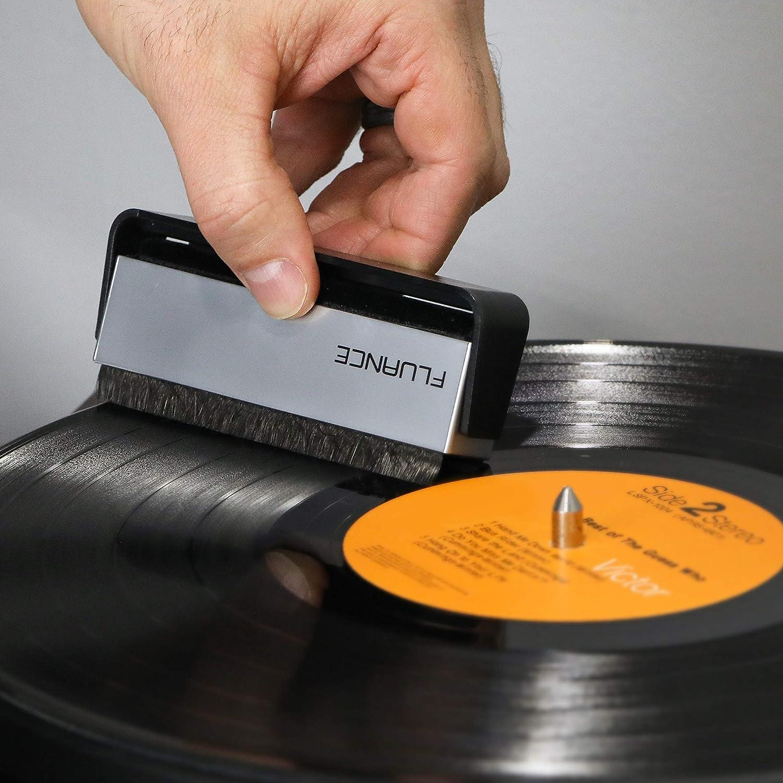 VB52 Fluance Vinyl Record /& Stylus Cleaning Kit with 2-in-1 Anti-Static Carbon Fiber /& Soft Velvet LP Brush and Stylus Brush
