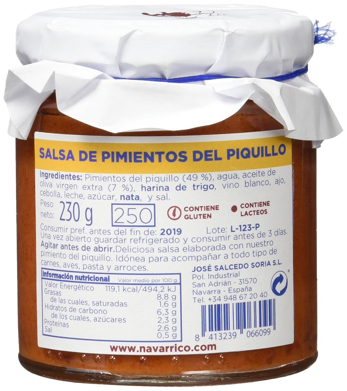 El Navarrico Salsa de Pimiento del Piquillo - Paquete de 3 x 230 gr - Total: 690 gr: Amazon.es: Alimentación y bebidas