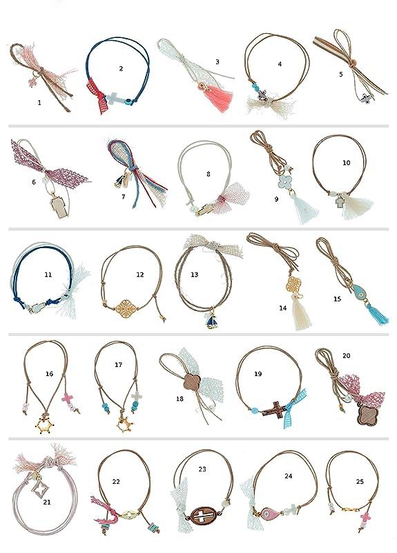 50 Royal favors bracelets Crown pins bracelets Baptism bracelets Unique favors crown Martirika guests Martyrika Pink cross Baptism boy pins