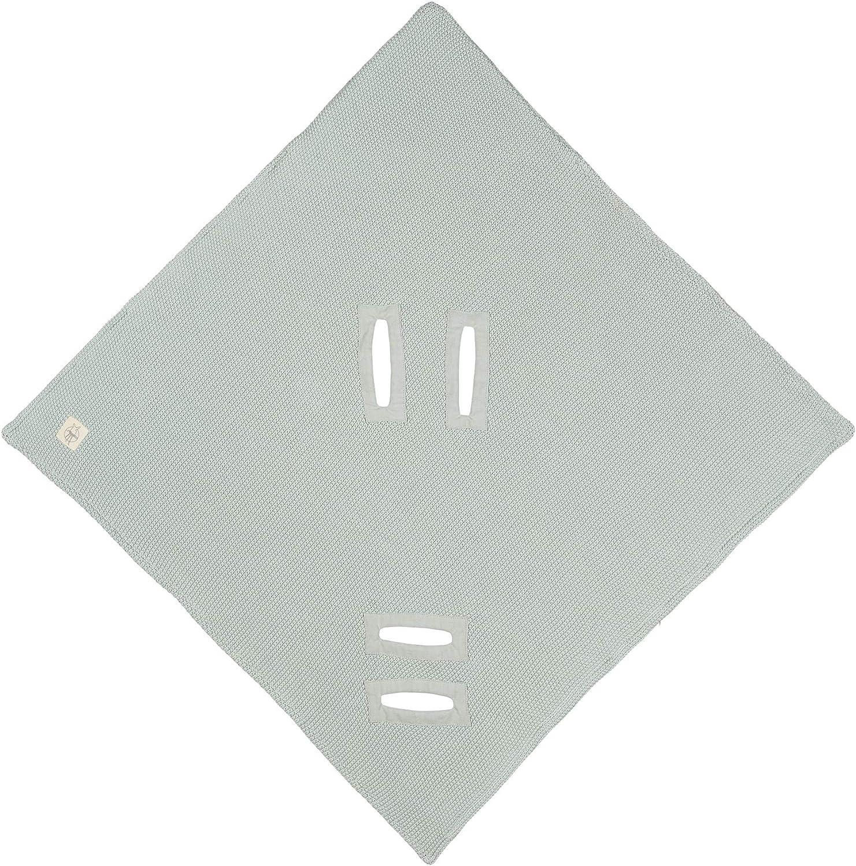 L/ÄSSIG Couverture Coton Bio Goths Menthe pour Si/ège B/éb/é 85 x 85 cm 6 Unit/é