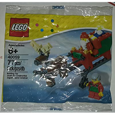 LEGO 40059 Santa and His Sleigh 77 Pc. Holiday 2013: Toys & Games