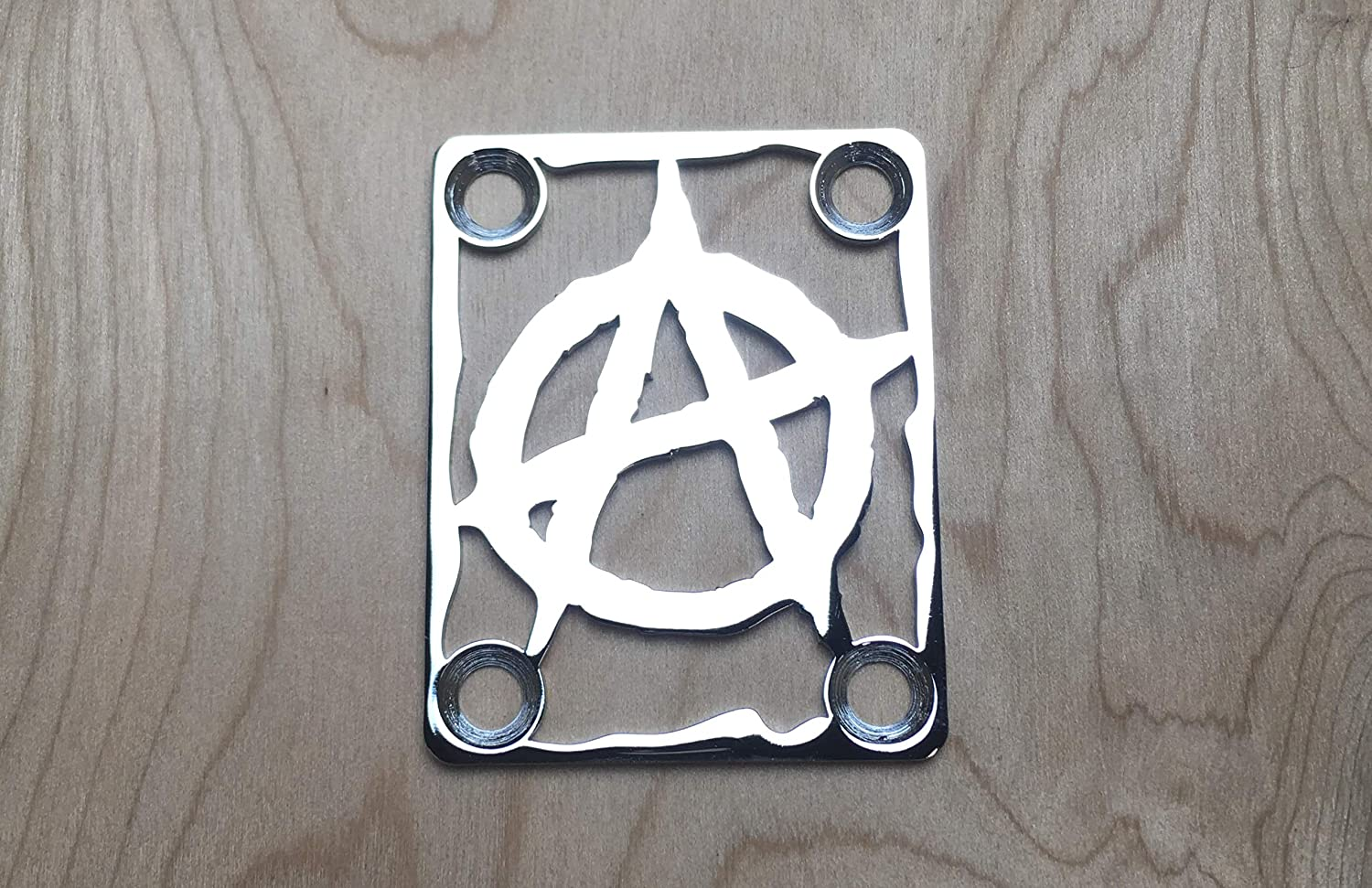 Chrome ANCHOR Neck Plate for your Guitar or Bass