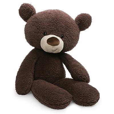 "GUND Fuzzy Teddy Bear Stuffed Animal Plush, Chocolate Brown, 24"": Toys & Games"