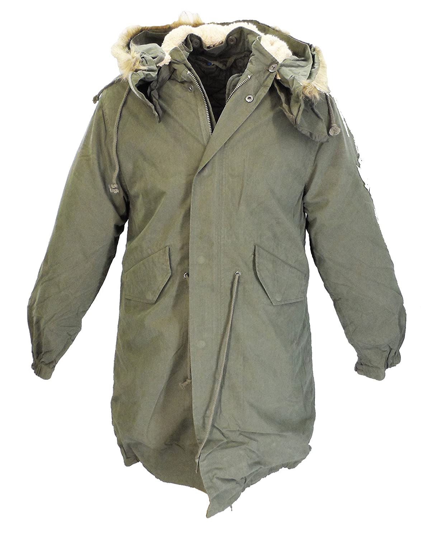 New Mod Fishtail Parka Coat/Jacket Faux Fur Hood XS - XXL: Amazon ...