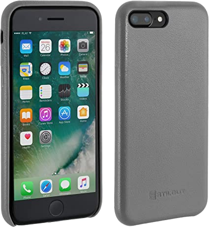 APPLE iPHONE 8 PLUS/7PLUS COVER ORIGINALE IN PELLE COLORE GRIGIO