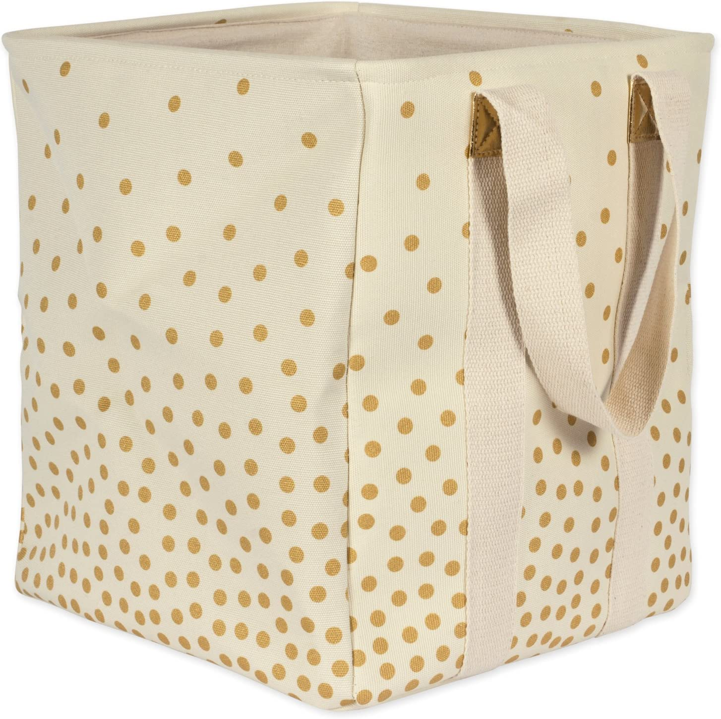 DII Canvas Laundry Basket, Double Strap Bag, Gold Confetti