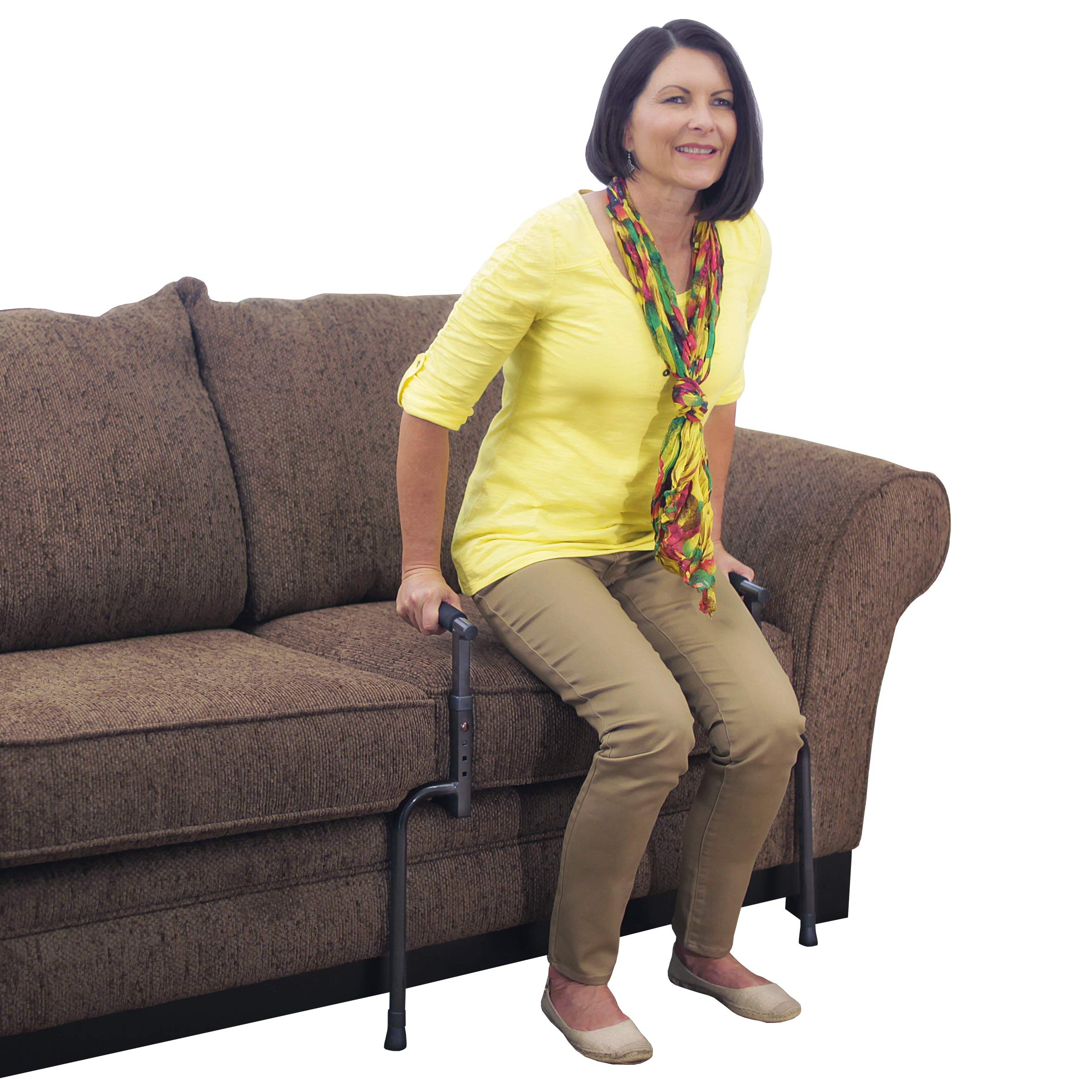 Able Life Universal Stand Assist - Adjustable Standing Mobility Aid + Assist Handle for Couch Chair & Sofa + Dual Cushioned Support Handles for Fall Protection by Able Life