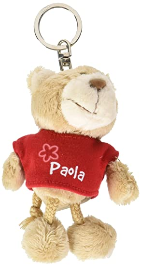 NICI n15833 - Llavero Oso con Camiseta Paola, Rojo: Amazon ...