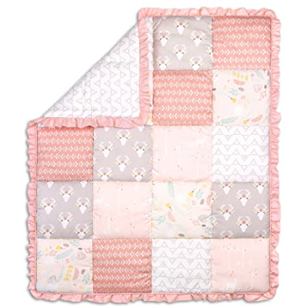 Amazon.com: Woodland Whimsy Baby Girl sábanas para cuna (4 ...