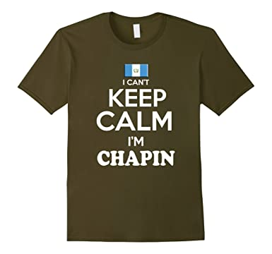Amazon.com: Mens Guatemala Keep Calm Chapin Guatemalan camisa de Hombre: Clothing