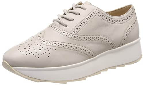 Geox Low Wedge Brogues for Women Beige Taupe Article D825TA 00085 C6738 D C  GENDRY New Spring Summer 2018 Collection 974ffb71d24