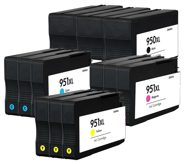 補充Ocproducts HP 950 X L 951 X LインクカートリッジHP Officejet Pro 8610 8600 276dw 8100 8615 8620 ( 3ブラック3シアン3マゼンタ3イエロー) B01N0OPY5O