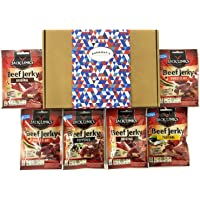 Jack Link's Beef Jerky 6 Pack Selection Gift Box - Original, Peppered, Sweet and Hot & Teriyaki - Hamper Exclusive To Burmont's