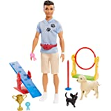 Ken Dog Trainer Playset with Doll, 2 Dog...